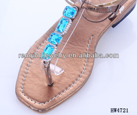 2014 new design Simple shiny shoe buckle