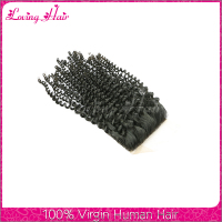 Unprocessed brazilian kinky curly hair closure brazilian lace closure brazilian virgin hair closure piece