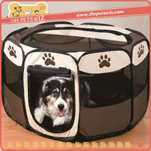 Pet camping tent ,CC051 canvas fabric pet house , portable soft dog playpen