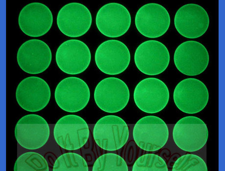 1 inch Green glowing epoxy stickers - High Quality epoxy domes - Epoxy dots for bottle caps