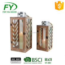 Wholesale Windproof Christmas Decorative Outdoor Metal Candle Lantern