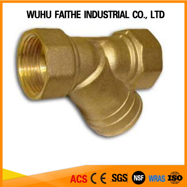 brass strainer thread connection for Y type