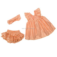 childrens boutique clothing sets sequin baby summer outfits ruffle shorts set