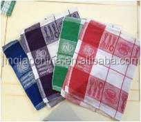 Custom Printed Standard Size Cotton Wholesale kitchen tea towel/cleaning cloth