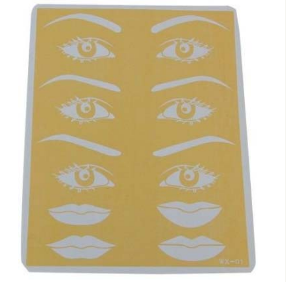 15*20CM empty rubber practice skin for tattoo permanent makeup training