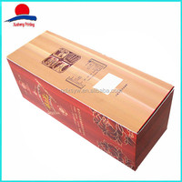 High Quality China White Wine Boxes Cardboard Wholesale