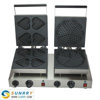 Hot sale electric heart and flower shape waffle cake maker production line