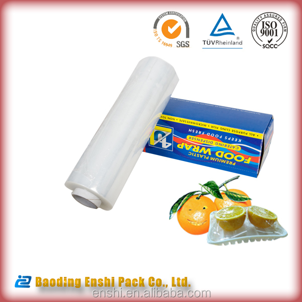 Plastic raw material transparent soft stretch food film New Zealand plastic wrap factory