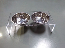 Acrylic pet feeding bowl