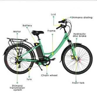 Electric bicycle, lithium battery city e-bike 36V 10.4ah-14ah
