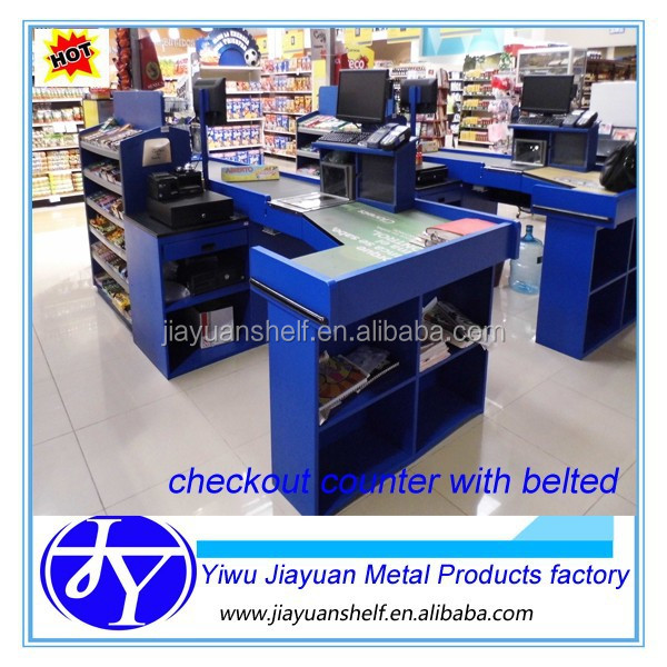 checkout counters used in supermarket