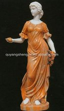 exquisite woman stone statue