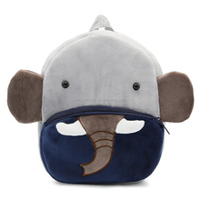 Wholesale Factory Price Cartoon Plush Animal Squishy Elephant Kids School Bag for Children Under 10