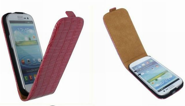 Crocodile leather Flip case pouch bag for Samsung galaxy S3 SIII I9300 KSH107