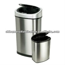 kitchen stainless steel trash bin