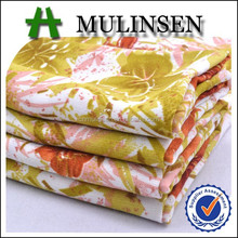 100% Polyester Printed Wool Peach Dubai Fabric Wholesale in Market Dubai