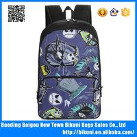 Wholesale high quality oxford big size backpacks bags girls cool skull school bag