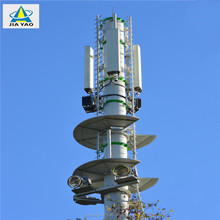 Self supporting galvanished steel radio wifi antenna telecom communication 30 meter tower monopole