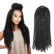 NOBLE Synthetic Hair Faux Dread Locs Crochet Braid 18 Inch Extension,havana mambo afro kinky bulk twist crochet braid hair