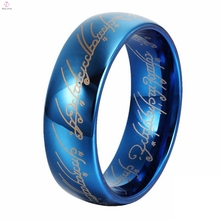 Popular Trade Selling All-match style Blue Lord of the Tungsten Rings