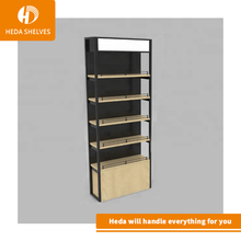 Free design lighting mdf commercial wall retail store shoes display <strong>shelf</strong> for shoe