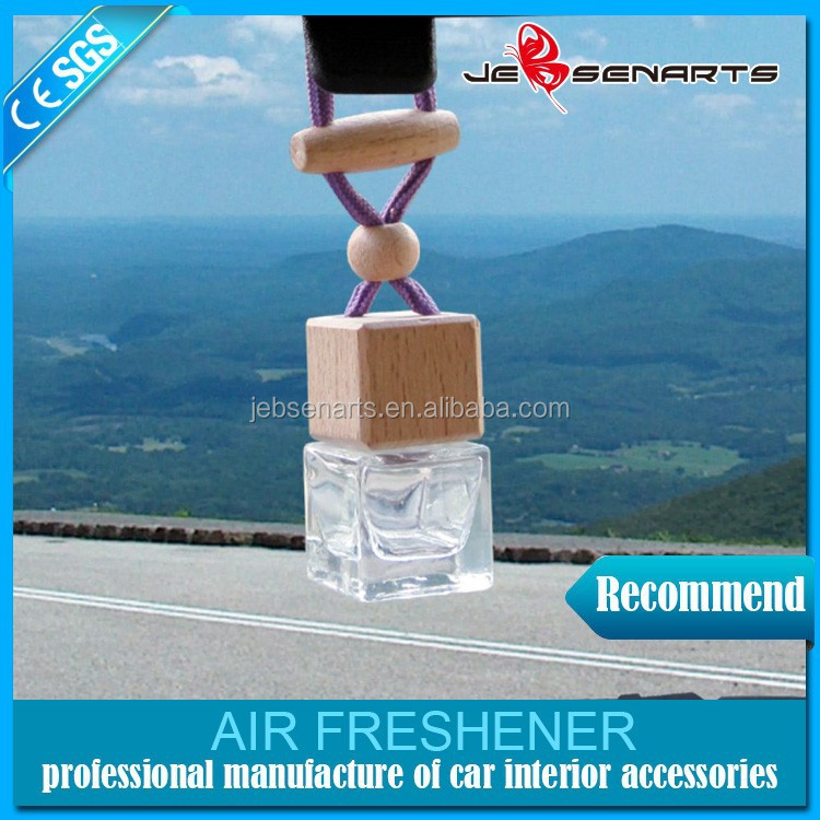 Wholesale hanging wooden cap glass bottle liquid car air freshener/aroma air freshener