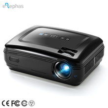 Elephas LED Portable HD Projector 3200 Luminous Efficiency Multimedia Home Theater LCD Video Projector, Black