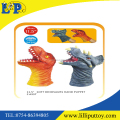 "11.5"" soft pvc dinosaur hand puppet for children to play"