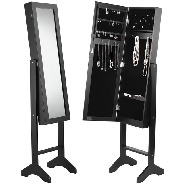 Cheval Corner High Quality Jewelry Armoire With Full-length Mirror