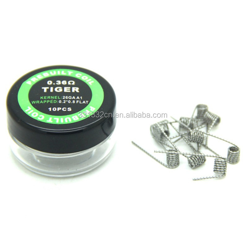 Risistance wire Prebuild prebuilt Coils of Clapton wire/Fused clapton /Alien /Mix twisted /Tiger /Hive /Flat twisted Wire coil