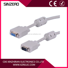 vga coaxial cable converter Male to Male Monitor Cable With Two ferrites