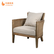 Simple Design Antique Living Room Luxury Furniture Single Sofa