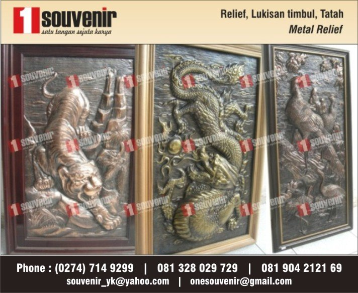 SELL METAL RELIEF, CALLIGRAHY, FROM BRASS, COPPER, RELIEF LOGAM, crafts
