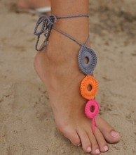 New Arrival Beach Wedding Barefoot Sandals Crochet Cotton Foot Jewelry