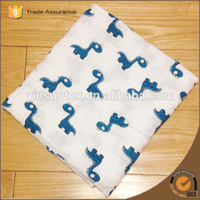 New Soft Color Dark Green Seahorse Muslin Cotton Newborn Baby Swaddle Blanket Bath Towel