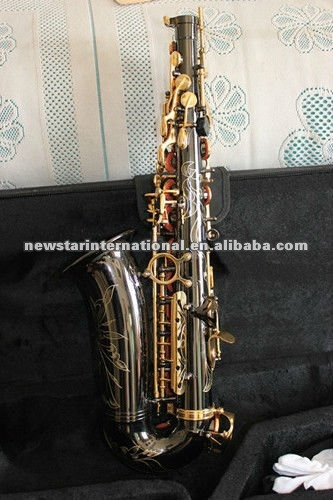 Black nickel plated Alto saxophone