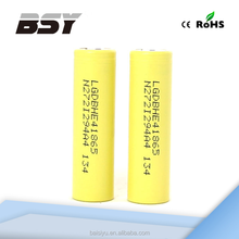 Promotion 18650 li-ion rechargeable batteries 18650 LG HE4 35A max discharge battery & LG HE2 battery