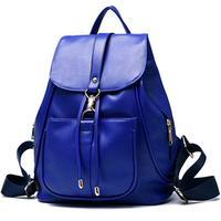 Wholesale fashion solid college lady leather handbag shoulder backpack bag