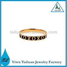 Fashion O and X Enamel Bracelet Bangle