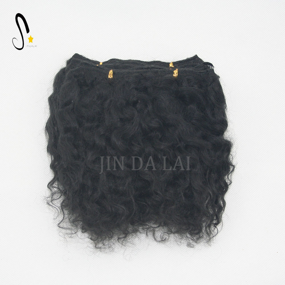 Hot product Raw material Mohair weft on natural black color for baby dolls