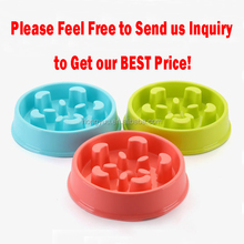 HOT Selling Colorful happy hunting pet feeder bowl healthy diet dog bowl slow eat feeding bowl