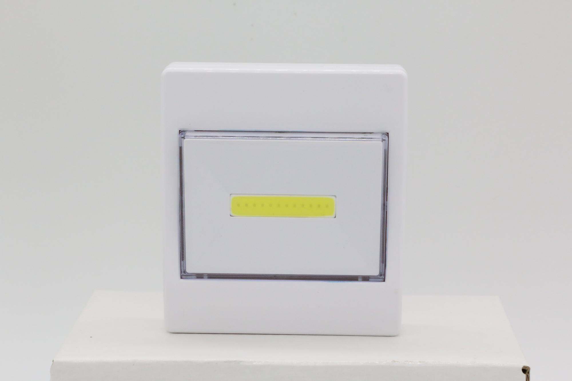 Hot Sell LED Switch Light, 3W COB with 150lm, Strong Magnet, Both Sides Adhesive Stick, Nail Peg, 3xAAA