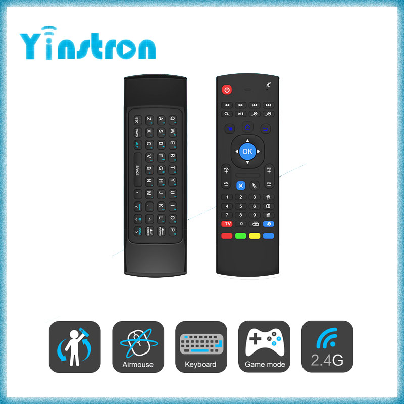 MX3 Fly Air Mouse 2.4GHz Sensors mini Wireless Keyboard for android tv box