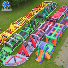 High Quality PVC Giant Adult Inflatable Obstacle Course Kids Assault Course For Sale