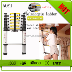 shipping from china AY Hot safety lock portable telescopic ladder