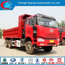 second hand used condition 6X4 Dump Truck front lifting diesel type 30TON FAW dumper 10wheels Faw tipper truck dump truck