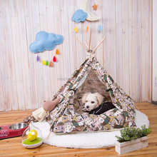 Hot Sale Wood Outdoor India Teepee Pet House