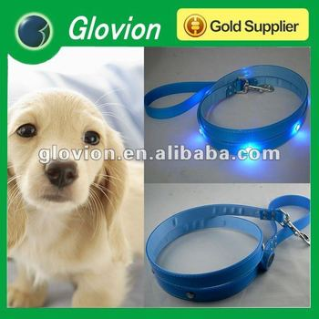 TPU led light for dog collars pet collars pet necklaces LED dog leashes