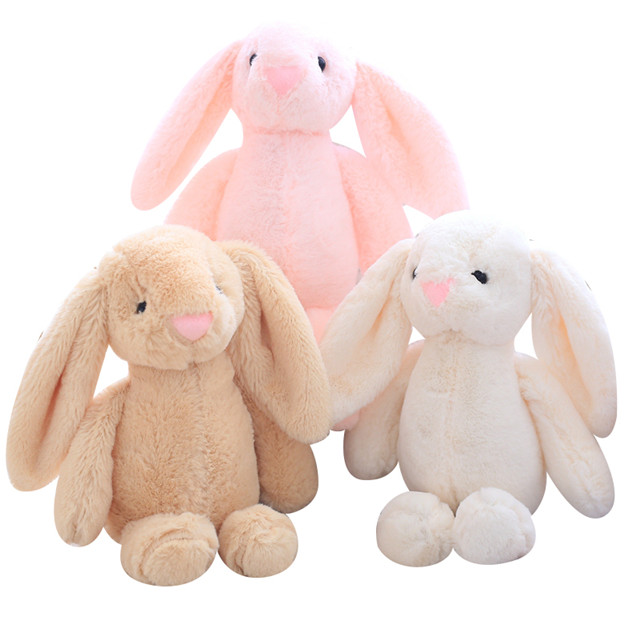 6 colors Long-eared <strong>rabbit</strong> shaped super soft bunny stuffed plush toy