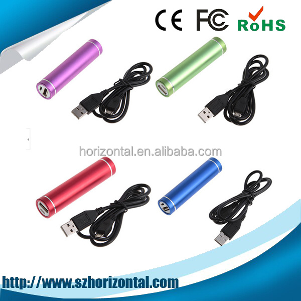 Promotion Gift Full Capacity Power Bank 2600mah With CE ROHS Lipstick Battery Backup Portable Mobile Power